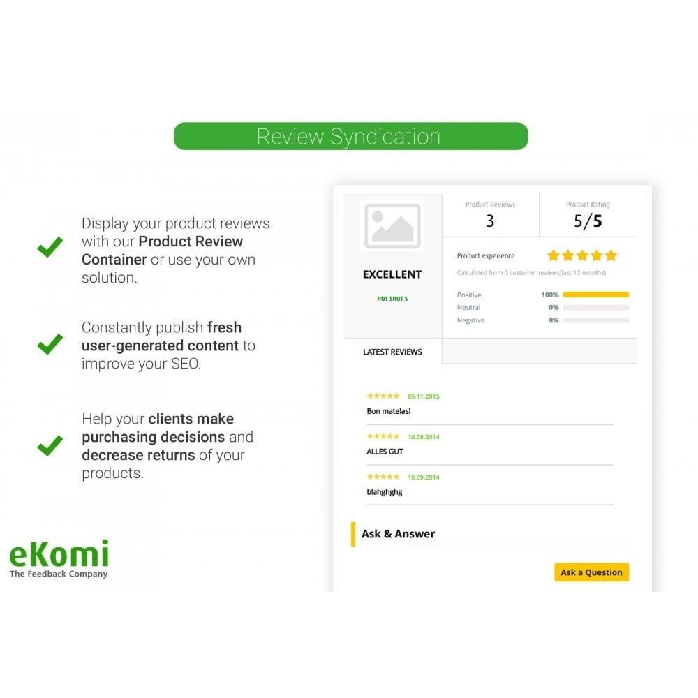 module - Comentarios de clientes - Valoraciones y Calificaciones eKomi - 5