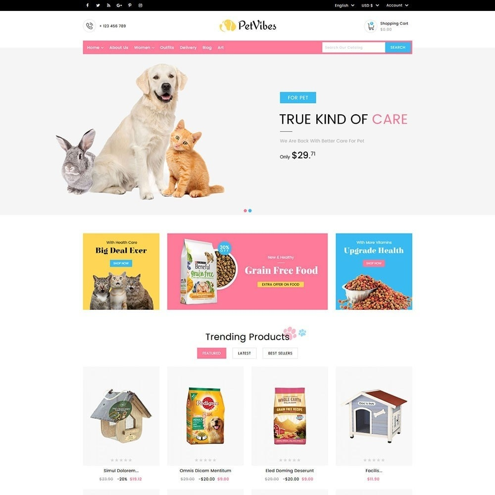 theme - Animals & Pets - Petvibes Pet Store - 2