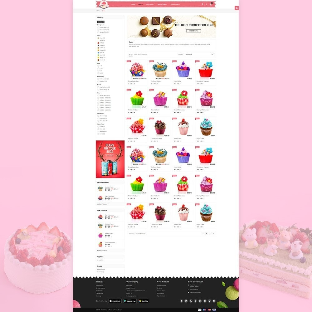 theme - Food & Restaurant - Cake Dream - Cake Store - 3