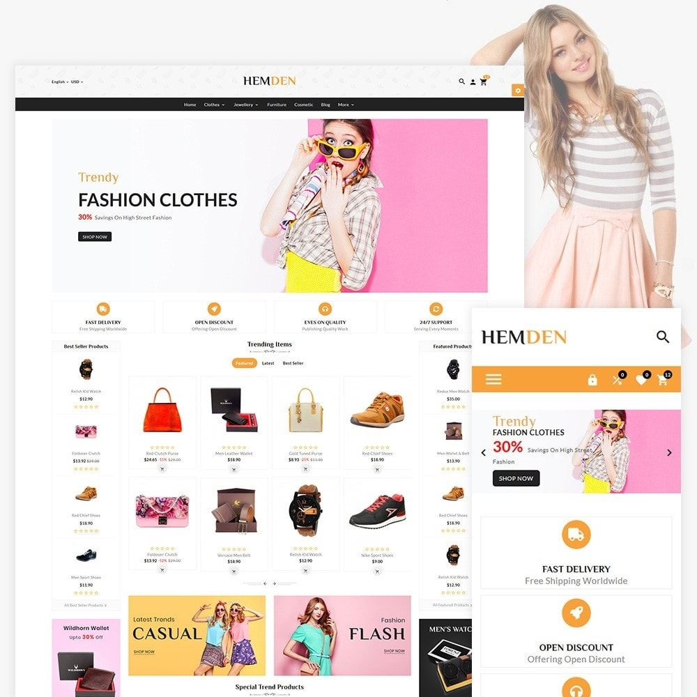 theme - Fashion & Shoes - HemDen - The Fashion Store - 1