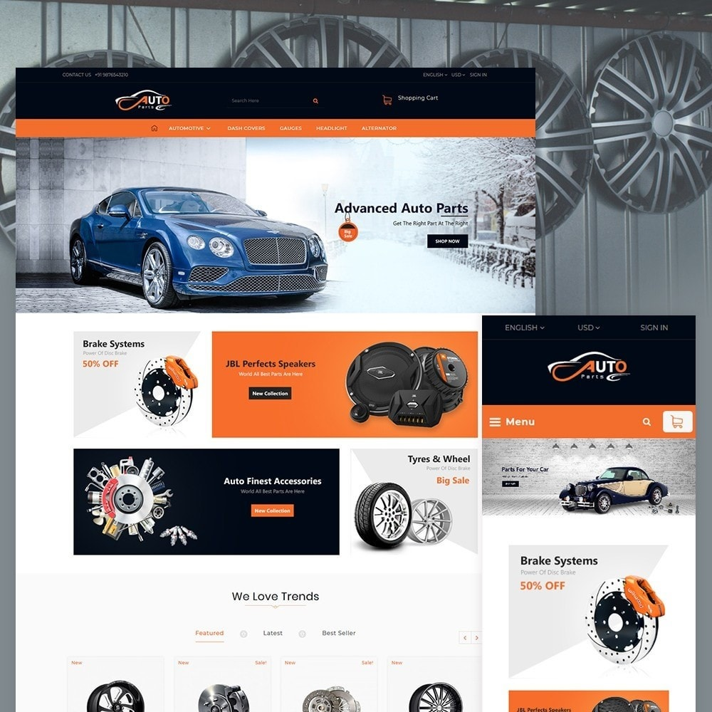 theme - Auto & Moto - Auto Part - Automotive Shop - 2