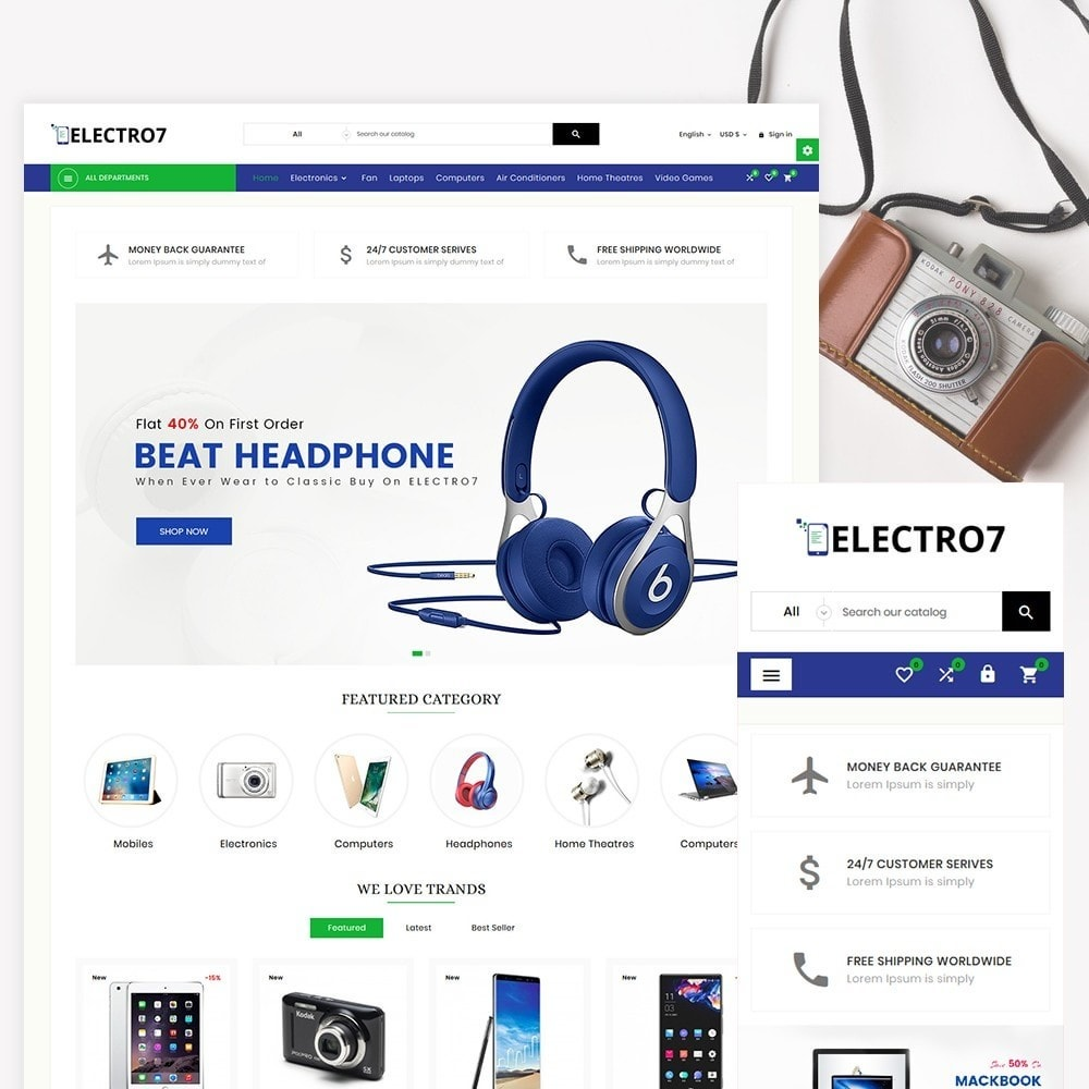 theme - Elektronik & High Tech - Electro7 – Electronic and Big Super Store - 2