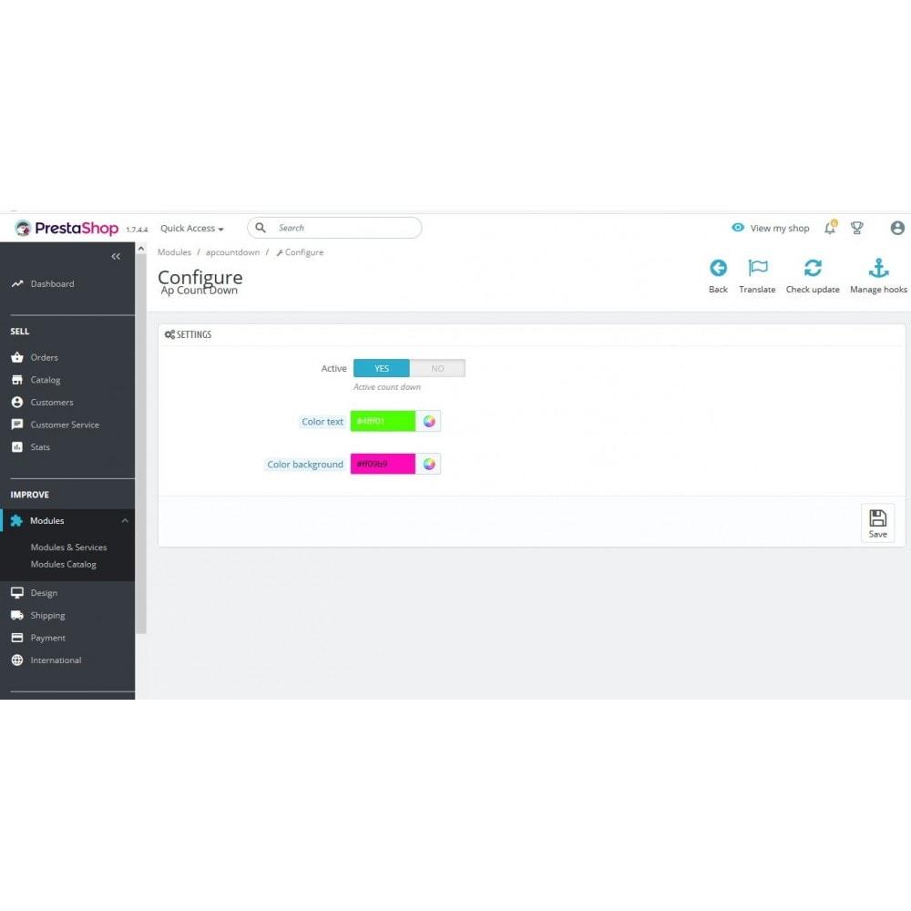 module - Personalización de la página - Ap countdown - 2