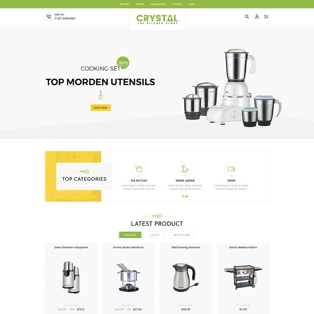 theme - Дом и сад - Crystal Kitchen Store - 2
