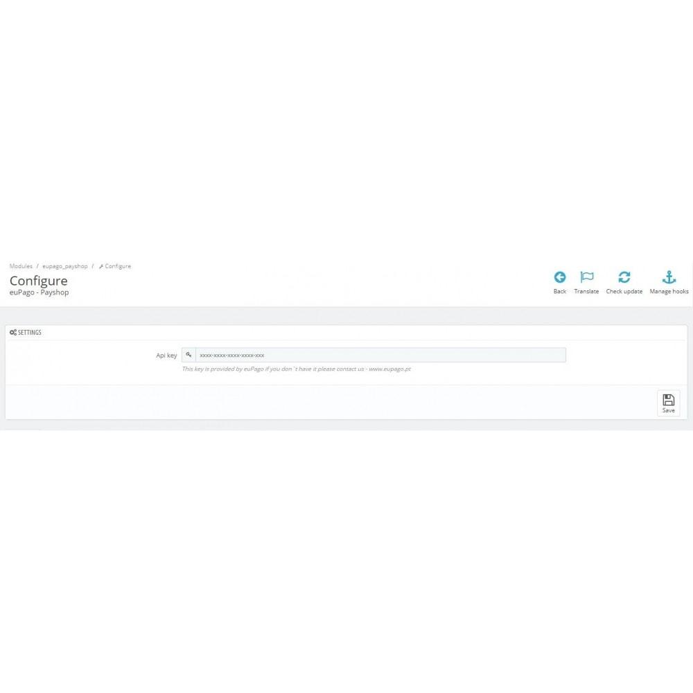 module - Płatności - euPago - Payshop - 1