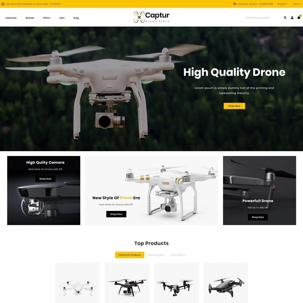 theme - Electronics & Computers - Captur Drone Store - 2