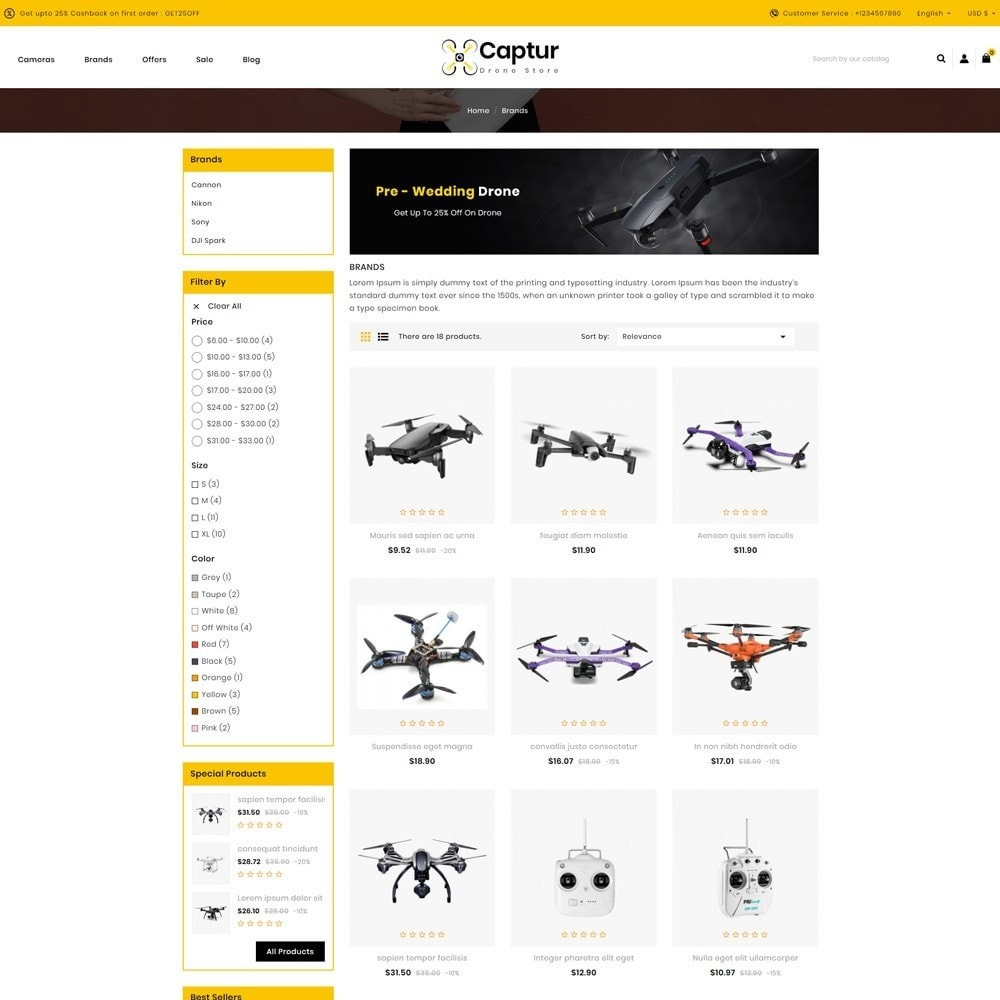 theme - Electronics & Computers - Captur Drone Store - 3
