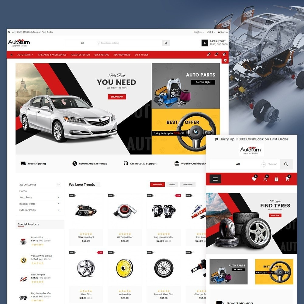 theme - Samochody - Auto Burn  Auto Part and Accessories Super Store v3 - 2