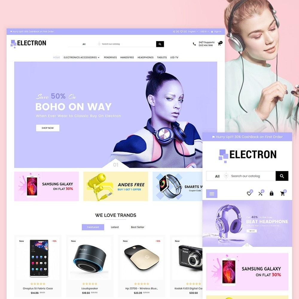 theme - Elektronik & High Tech - Electron – Electronics and Digital Super Store - 2