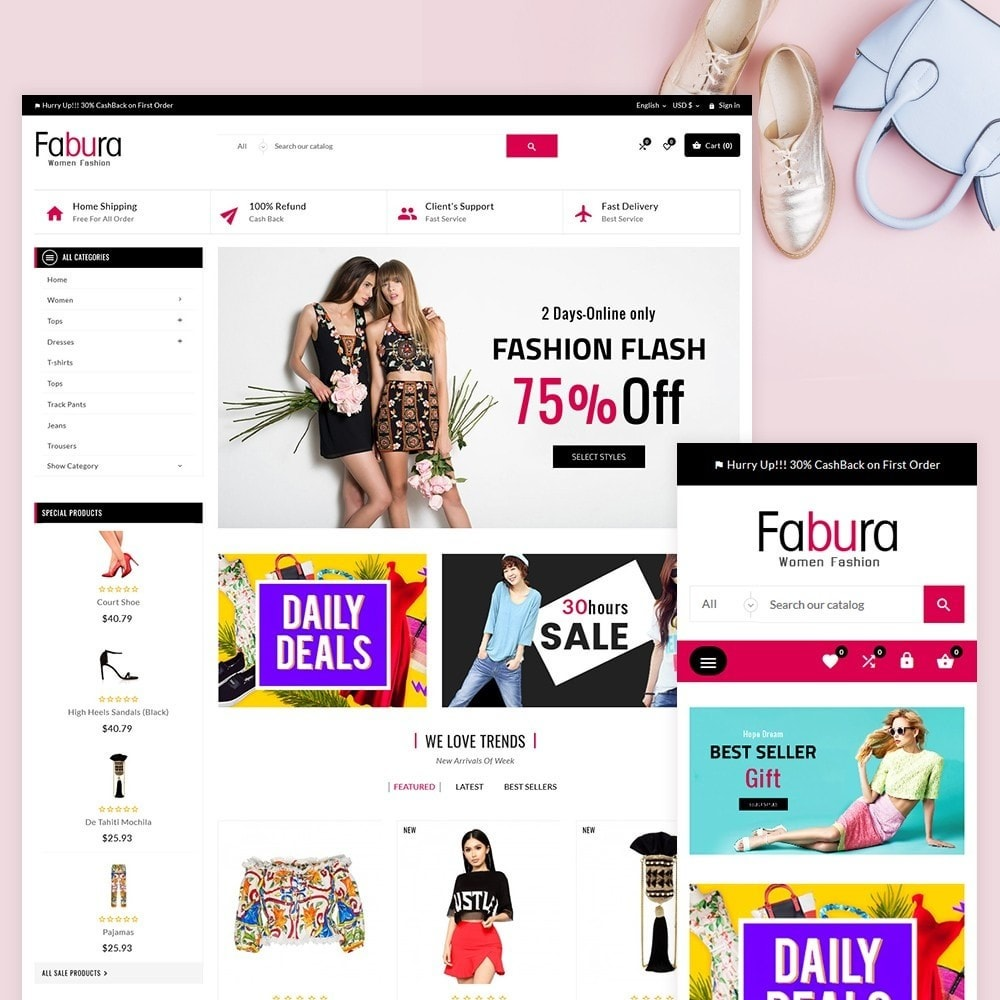 theme - Moda & Calzature - Fabura – Fashion and Cloth Mega Super Store - 2