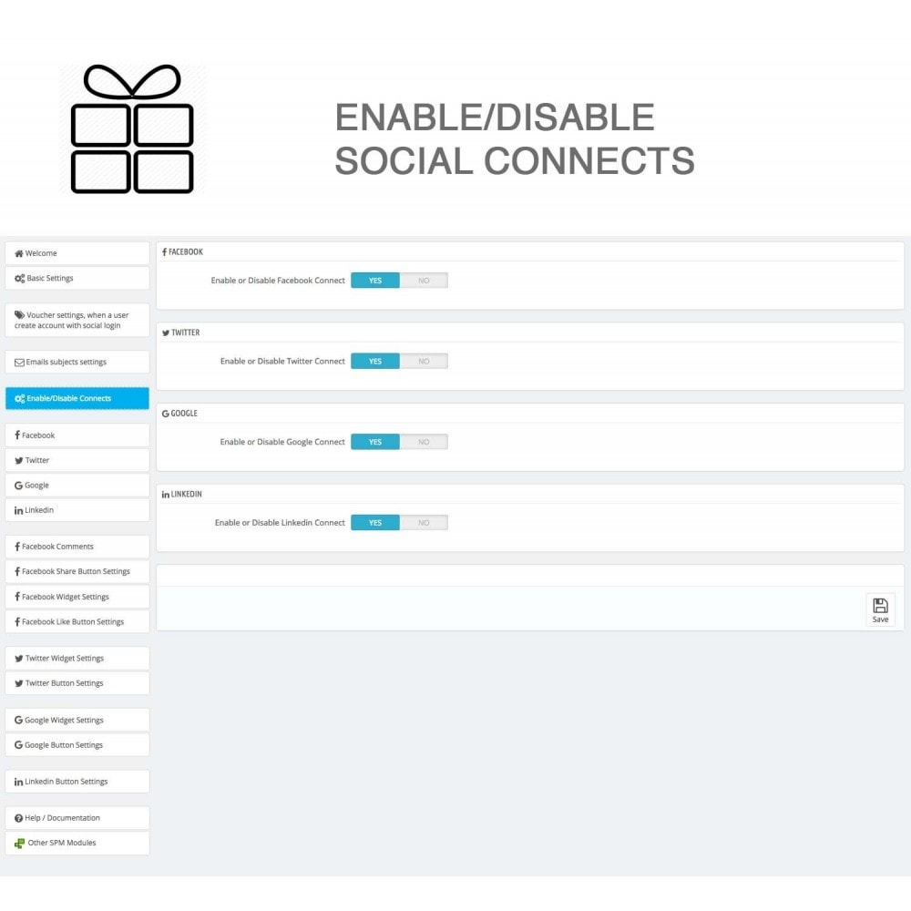 module - Share Buttons & Comments - Full Pack for 4 Social Networks + Statistics - 26