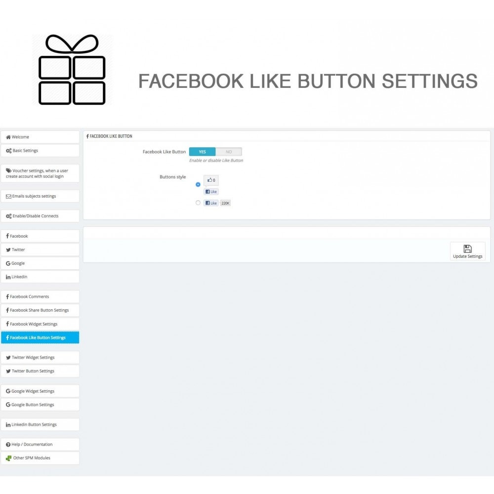 module - Share Buttons & Comments - Full Pack for 4 Social Networks + Statistics - 34