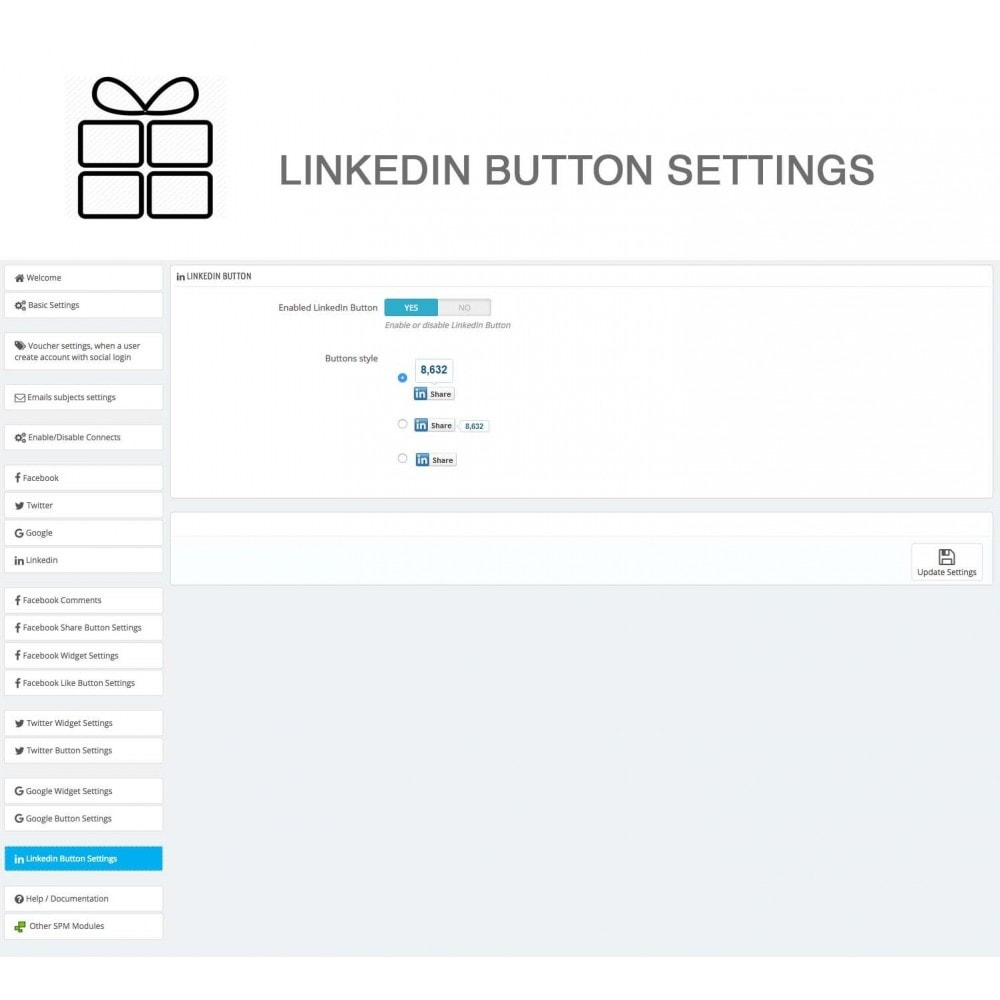 module - Share Buttons & Comments - Full Pack for 4 Social Networks + Statistics - 39