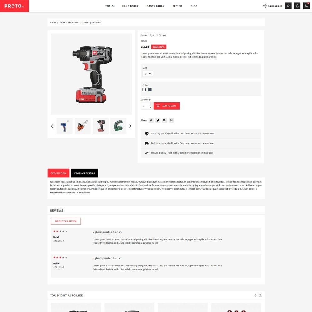 theme - Automotive & Cars - Proto Tools Shop - 5