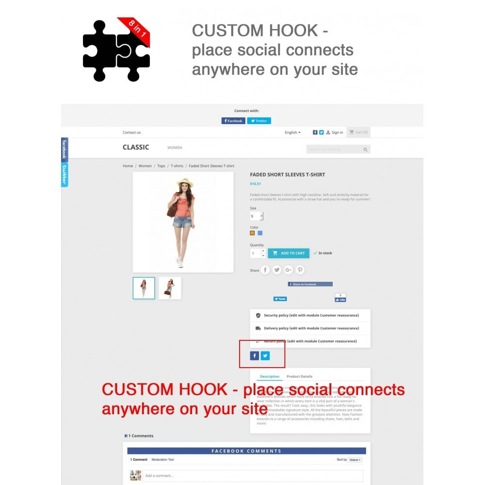 module - Share Buttons & Comments - Social Connects and Plugins + Statistics (8 in 1) - 17