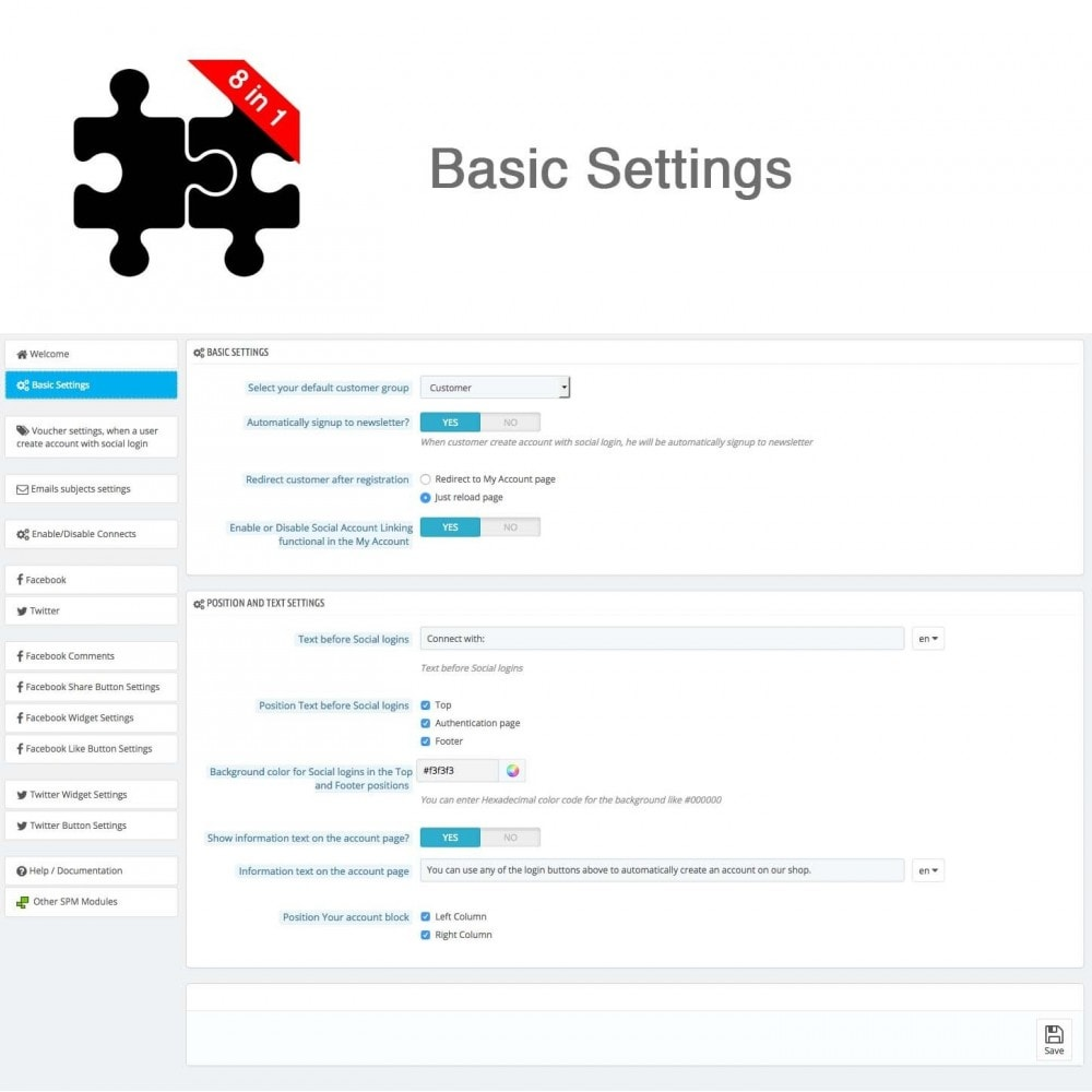 module - Compartir contenidos y Comentarios - Social Connects and Plugins + Statistics (8 in 1) - 22
