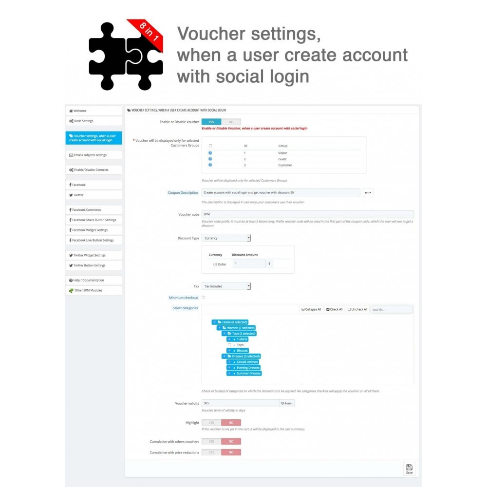 module - Share Buttons & Comments - Social Connects and Plugins + Statistics (8 in 1) - 23