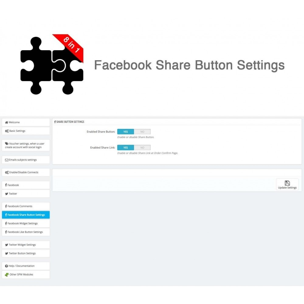 module - Share Buttons & Comments - Social Connects and Plugins + Statistics (8 in 1) - 29