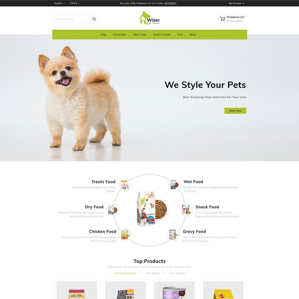 theme - Animales y Mascotas - Wiser Pets Store - 2