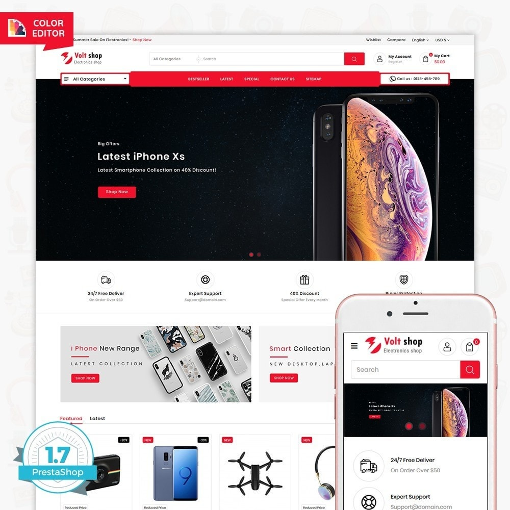 theme - Elettronica & High Tech - VoltShop - The Electronics Store - 1