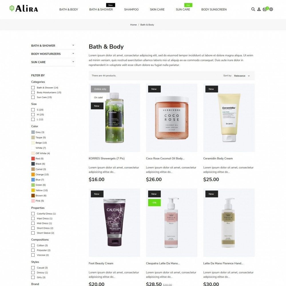 theme - Health & Beauty - Alira Cosmetics - 5