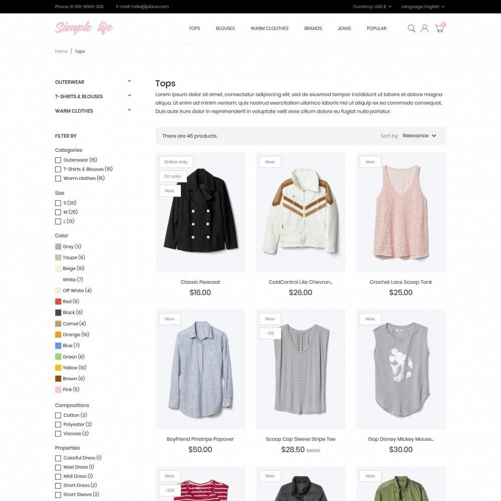 theme - Fashion & Shoes - Simple life Fashion Store - 5