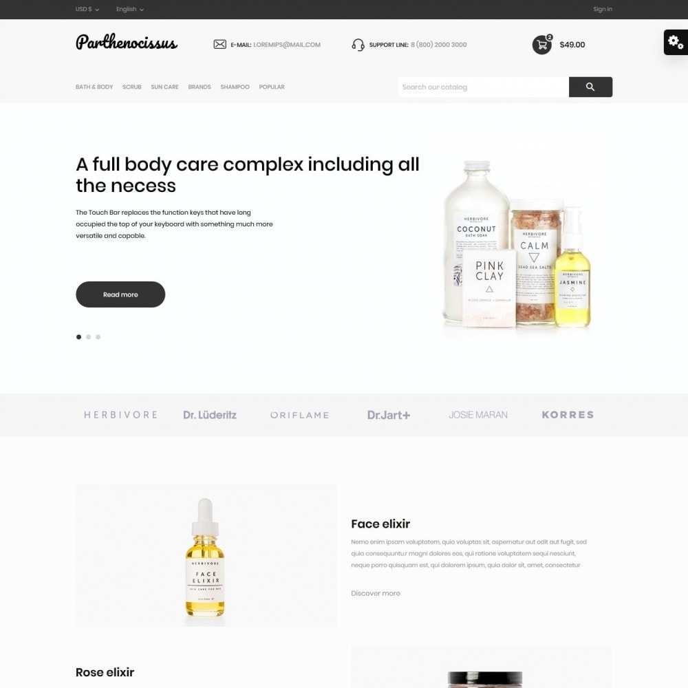 theme - Health & Beauty - Parthenocissus Cosmetics - 2