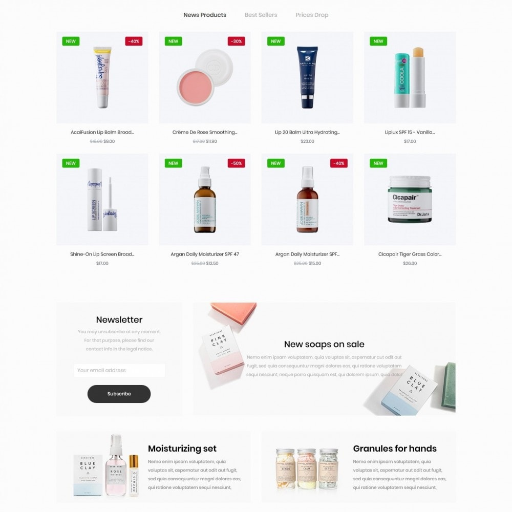 theme - Health & Beauty - Parthenocissus Cosmetics - 3