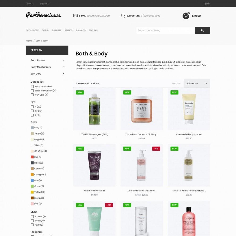 theme - Health & Beauty - Parthenocissus Cosmetics - 5