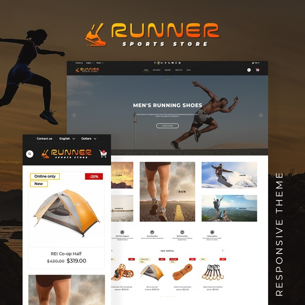 theme - Sports, Activities & Travel - Runner - 1