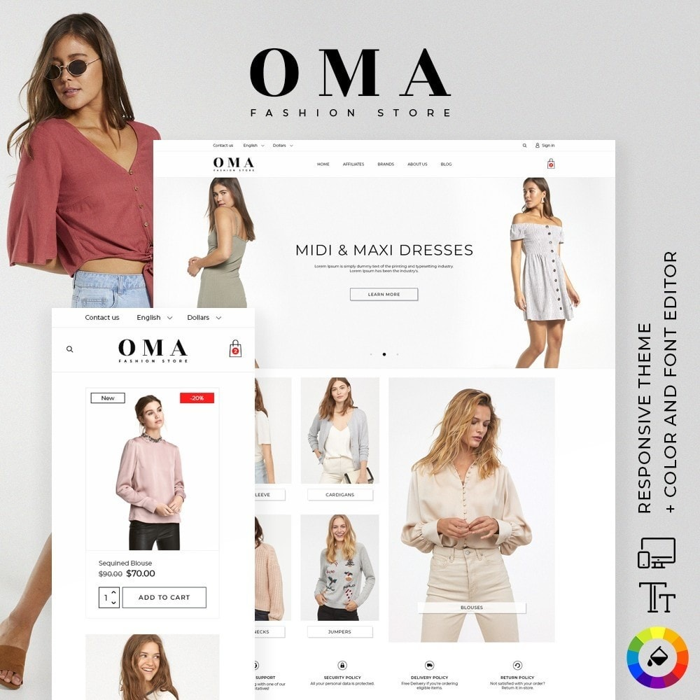 theme - Fashion & Shoes - Oma Fashion Store - 1