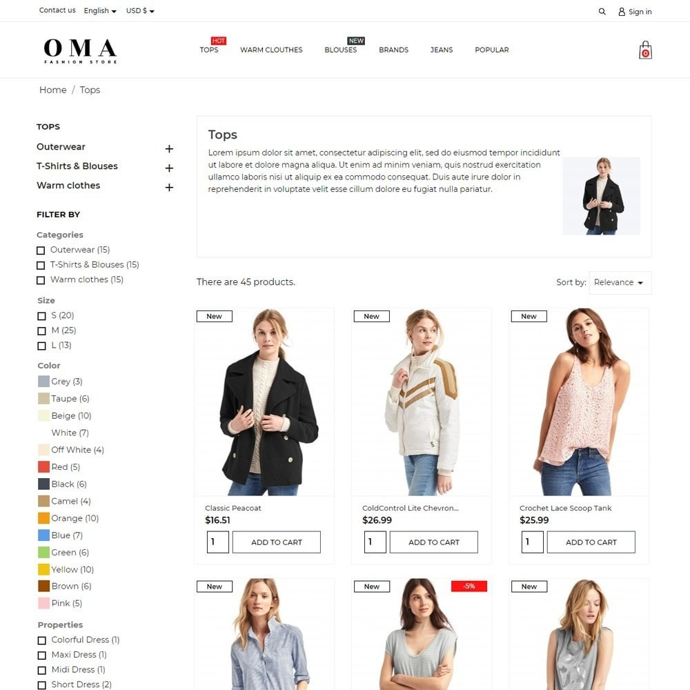 theme - Fashion & Shoes - Oma Fashion Store - 6