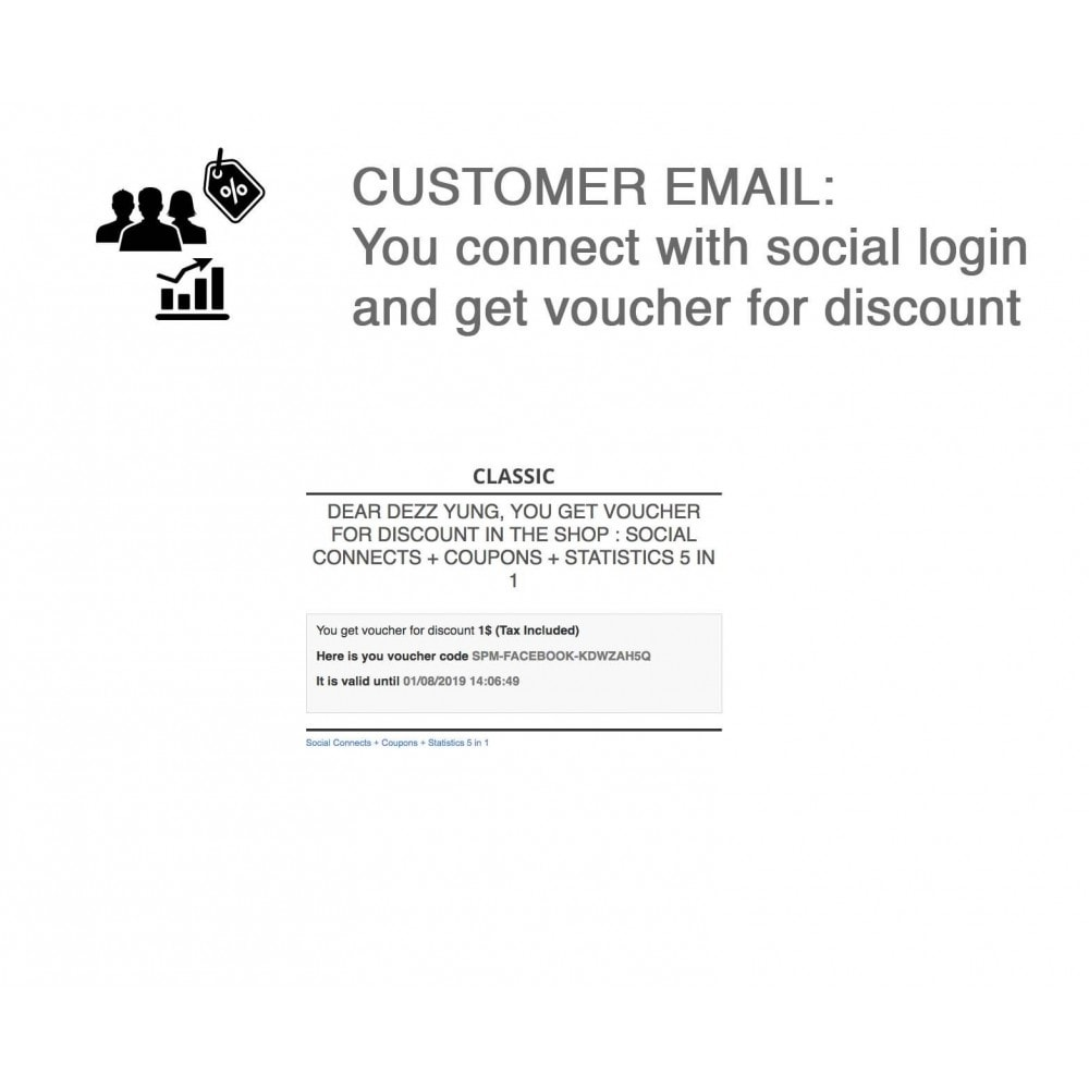 module - Social Network Coupon - Social Login - Paypal, Google, Twitter, LinkedIn, ... - 6
