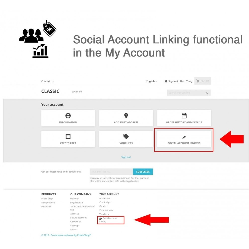 module - Social Network Coupon - Social Login - Paypal, Google, Twitter, LinkedIn, ... - 7
