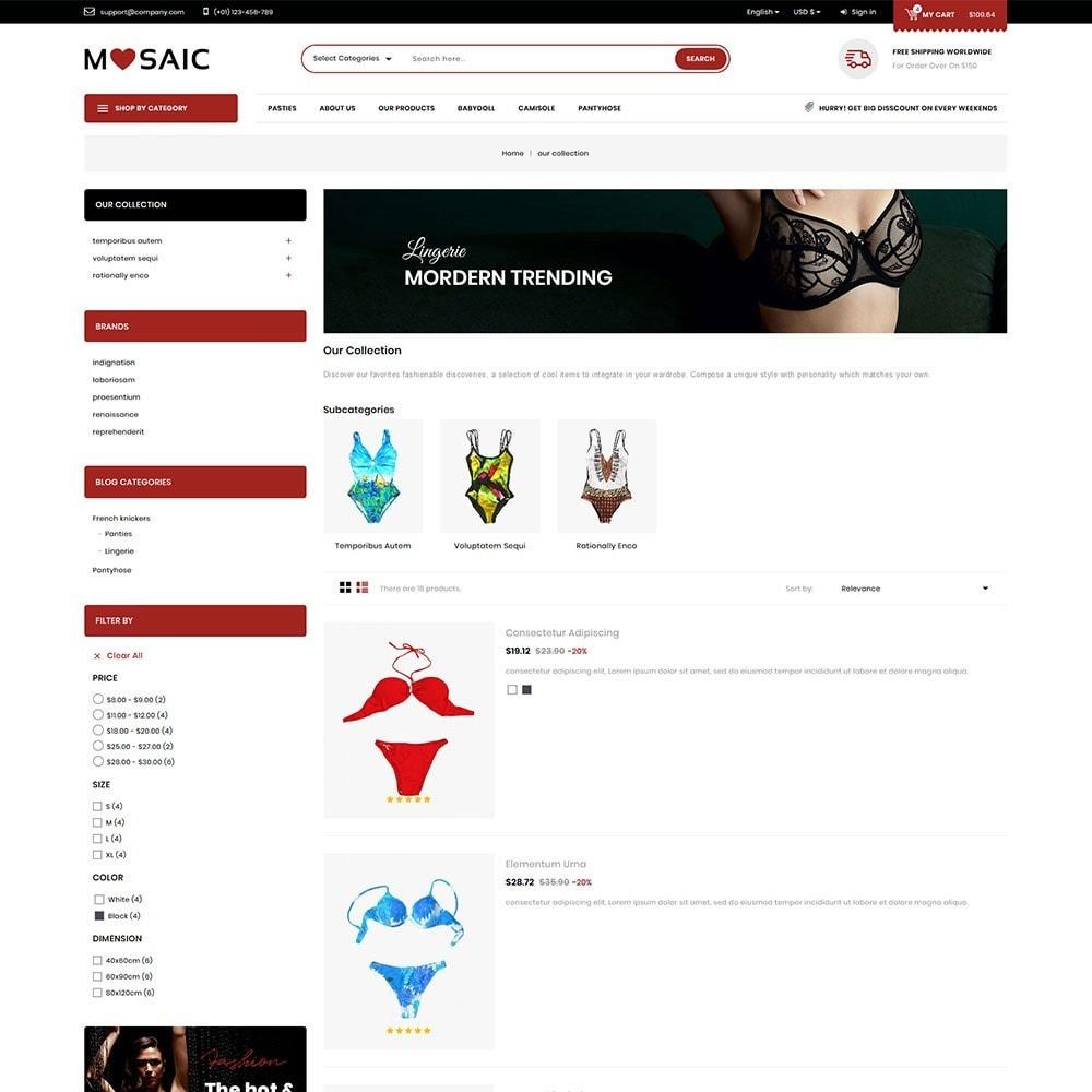 theme - Lingerie & Adultos - Mosaic - Ladies Wear Mega Shop - 5
