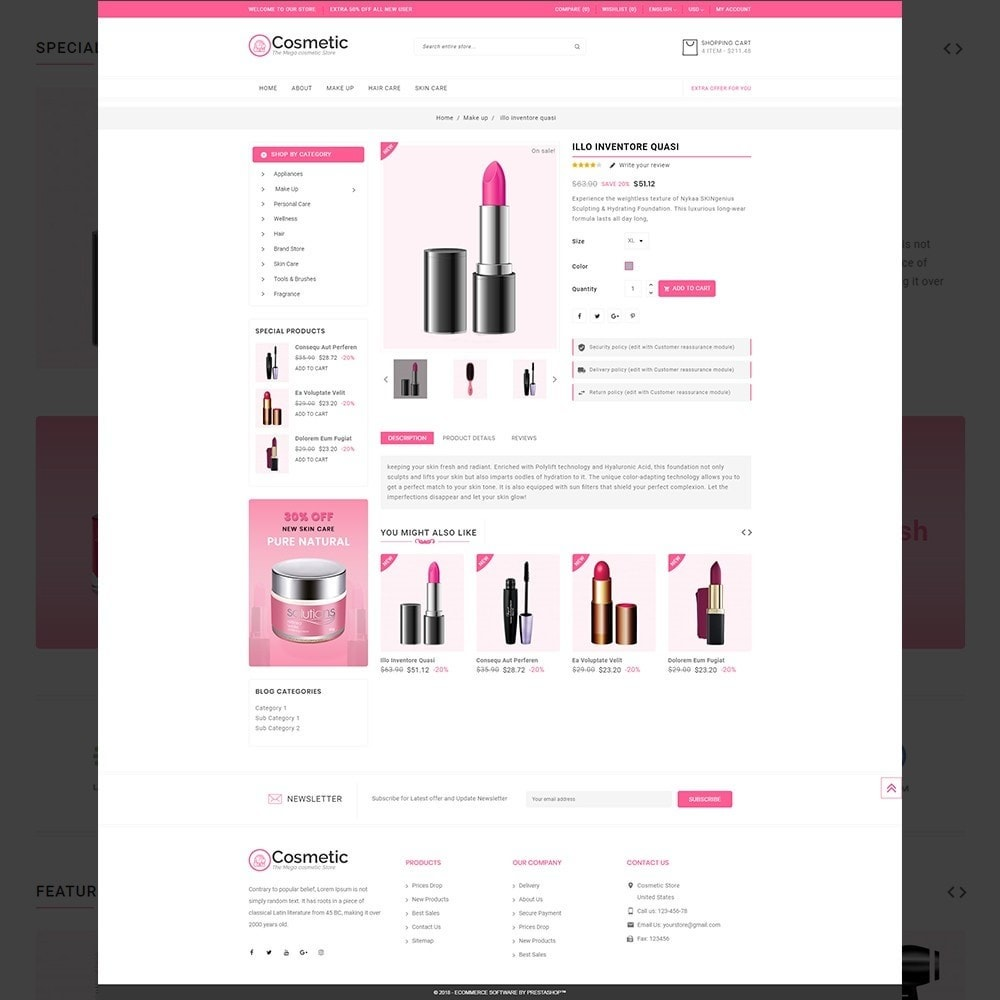 theme - Здоровье и красота - Cosmetic – Cosmetic & beauty & health Store - 13