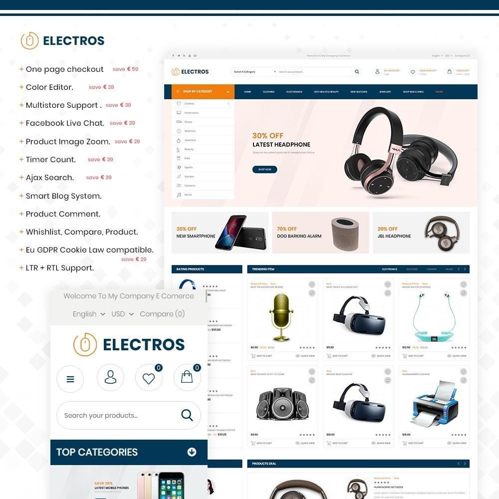 theme - Elektronika & High Tech - Electros – Multipurpose Electronic Store - 1