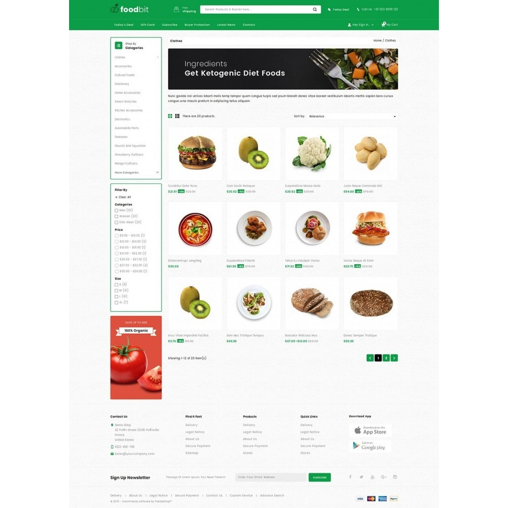 theme - Food & Restaurant - Foodbit - Vegetable Market - 3