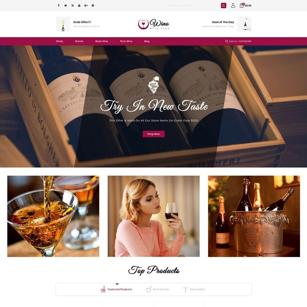 theme - Drink & Wine - Wino Wine Store - 2