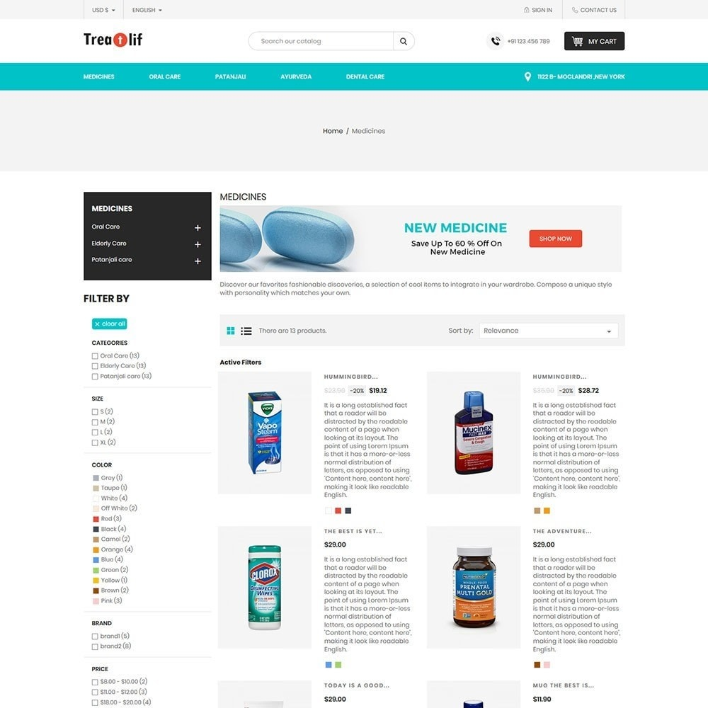 theme - Health & Beauty - Treat Life  - Medical Drug Store - 3
