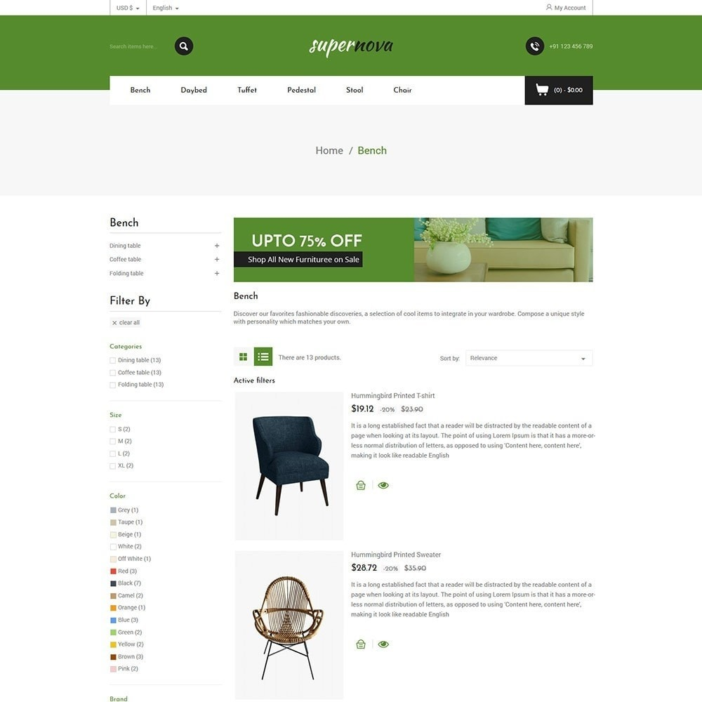 theme - Home & Garden - Super Nova  - Furniture Store - 5