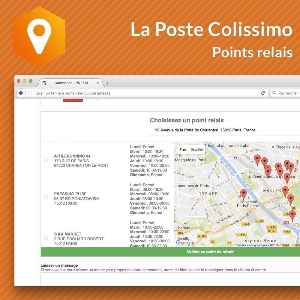 module - Collection Points & In-Store Pick Up - Colissimo Points Relais - 1