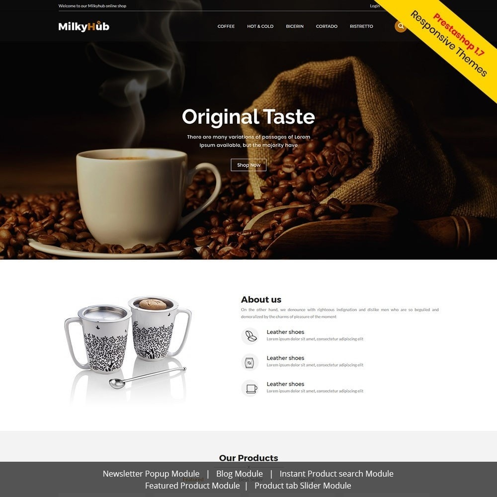 theme - Eten & Restaurant - Milkyhub Drink -Coffee Store - 1