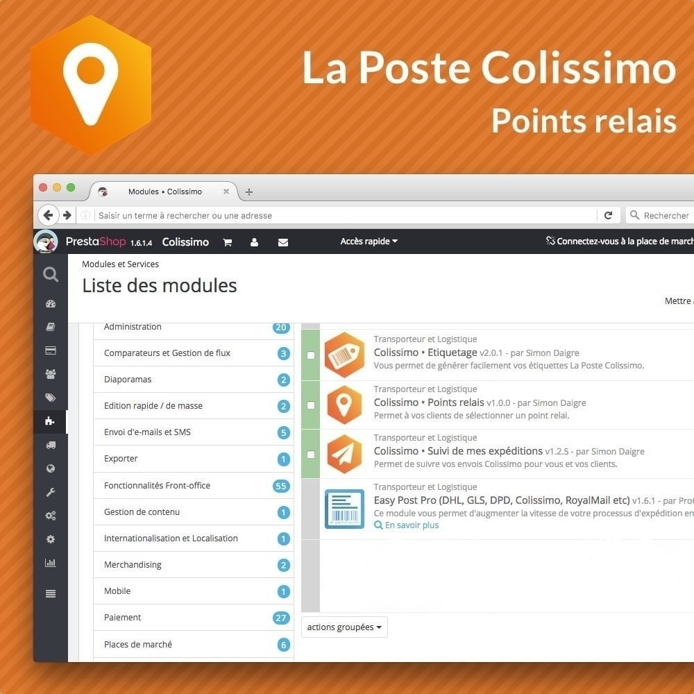 module - Abholstationen & Selbstabholer - Colissimo Points Relais - 3