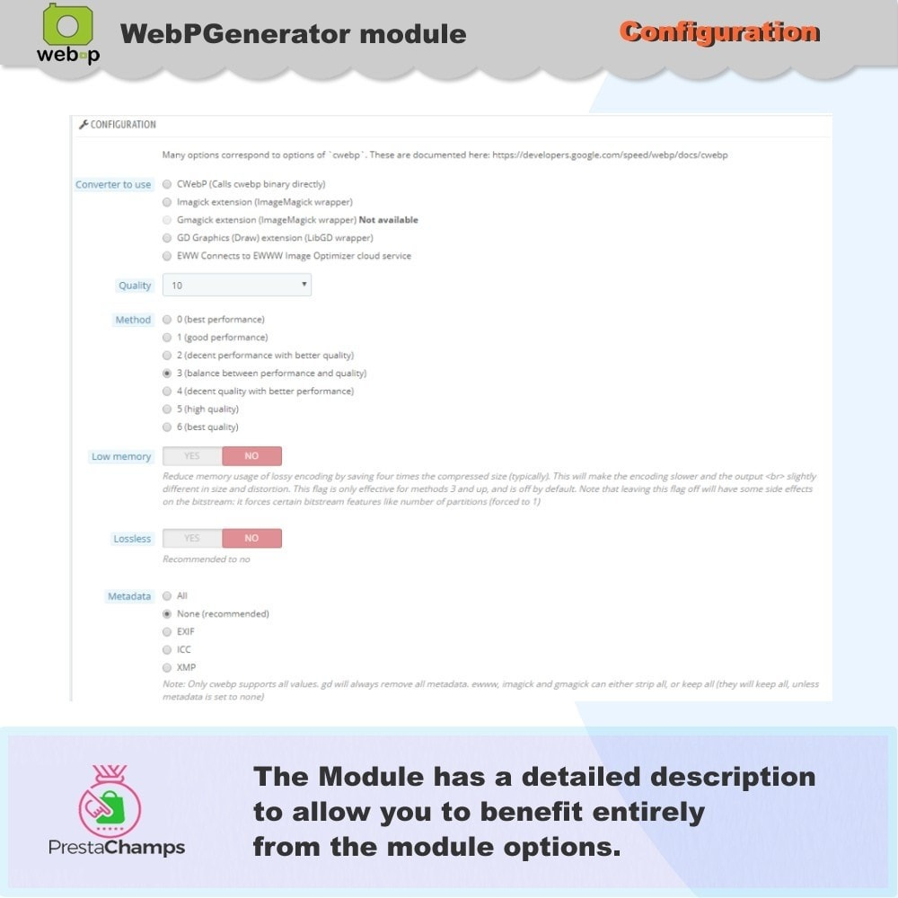 module - Visual Products - Google WebP Image Generator - 2020 Update - 8