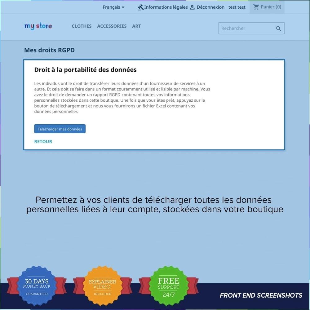 module - Législation - Règlement Général sur la Protection des Données - 21