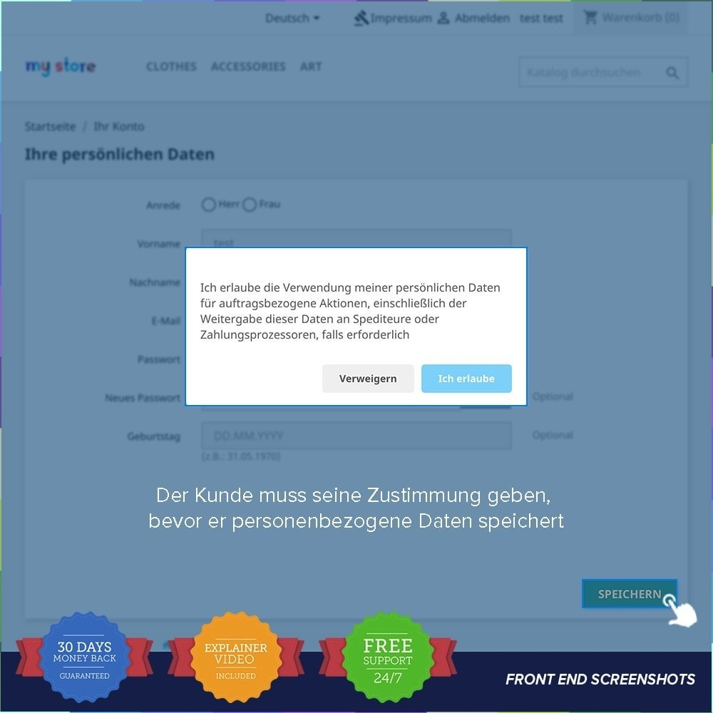 bundle - Rechtssicherheit - Starter Kit - GDPR, One Click SSL, One Signal Push - 17