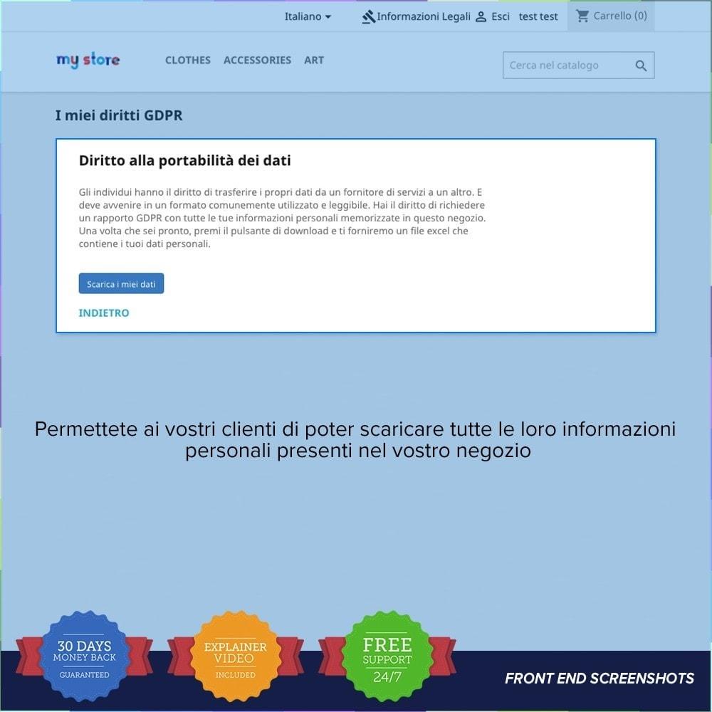 module - Legale (Legge Europea) - GDPR UE–Regolamento Generale sulla Protezione dei Dati - 21