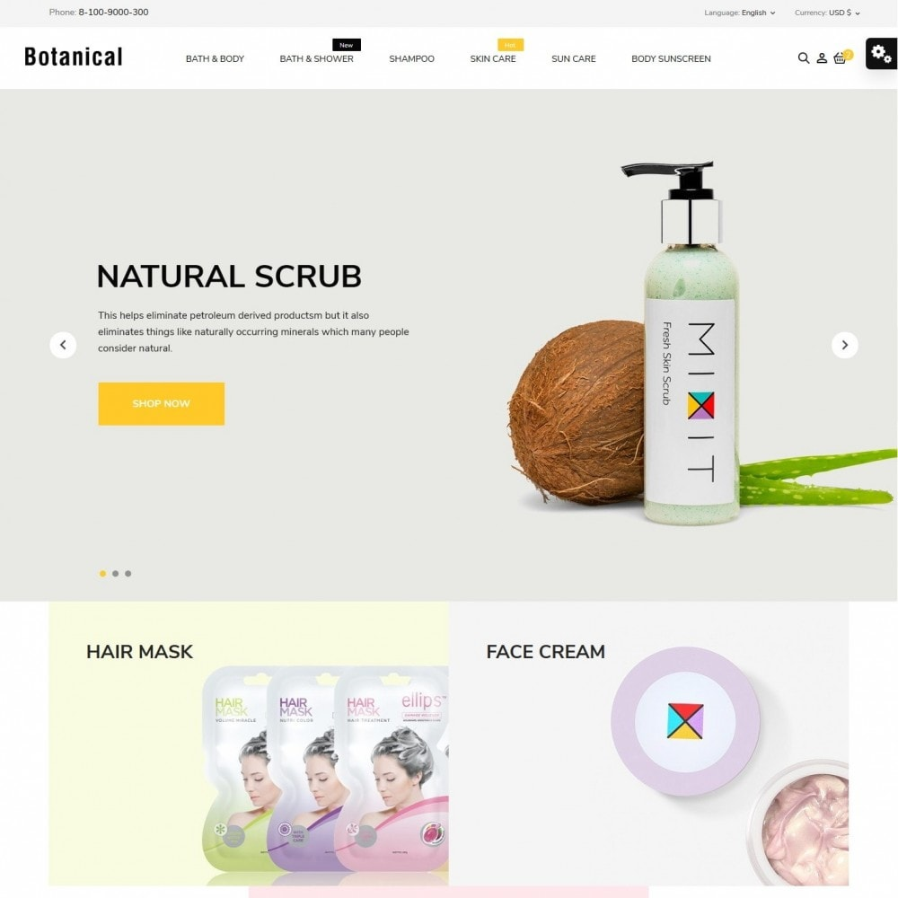 theme - Health & Beauty - Botanica Cosmetics - 2
