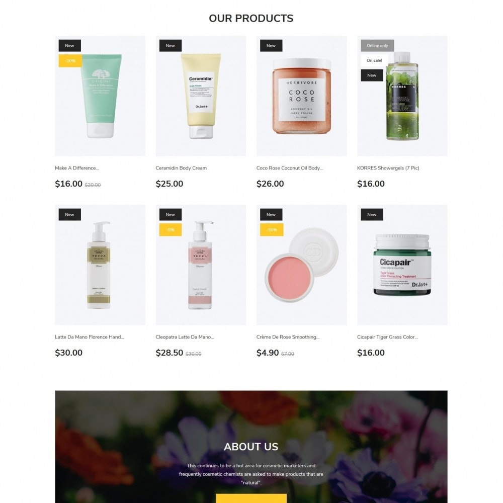 theme - Health & Beauty - Botanica Cosmetics - 3